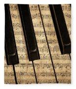Golden Pianoforte Classic Fleece Blanket