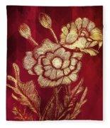 Golden Poppies Fleece Blanket