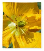 Golden Poppy Expose Fleece Blanket