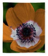 Golden Poppy Fleece Blanket