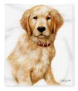 Golden Pup Fleece Blanket