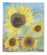 Golden Quartet Fleece Blanket