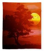 Golden Rays Of The Sun  Fleece Blanket