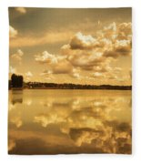 Golden Reflections At Moses Lake Fleece Blanket