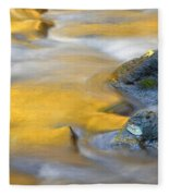 Golden Refuge Fleece Blanket