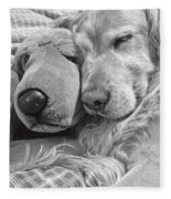 Golden Retriever Dog And Friend Fleece Blanket