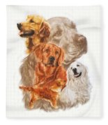 Golden Retriever W/ghost Fleece Blanket