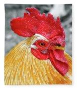 Golden Rooster Portrait Fleece Blanket