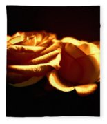 Golden Roses 5 Fleece Blanket