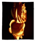 Golden Roses 6 Fleece Blanket