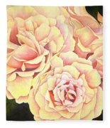 Golden Roses Fleece Blanket