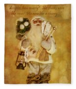 Golden Santa Card 2015 Fleece Blanket