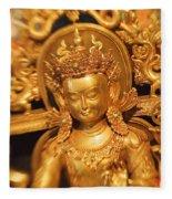 Golden Sculpture Fleece Blanket