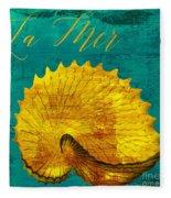 Golden Shell Fleece Blanket