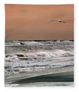 Golden Shore Fleece Blanket