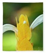 Golden Shrimp Plant Fleece Blanket