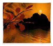 Golden Slumber Fills My Dreams. Fleece Blanket