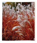 Golden Snow Fleece Blanket