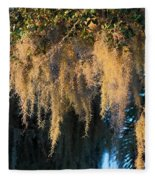 Golden Spanish Moss Fleece Blanket
