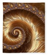 Golden Sparkling Spiral Fleece Blanket