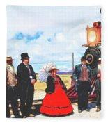 Golden Spike Railroad - Wating - 0749 G Fleece Blanket