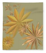 Golden Stars Fleece Blanket