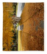 Golden Streets Fleece Blanket