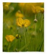 Golden Summer Buttercup 3 Fleece Blanket