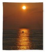 Golden Sun Fleece Blanket