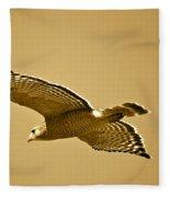 Golden Sunlight On Hawk Fleece Blanket