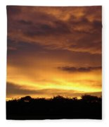 Golden Sunset 1 Fleece Blanket