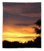 Golden Sunset 2 Fleece Blanket