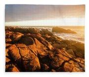 Golden Sunset Coast Fleece Blanket