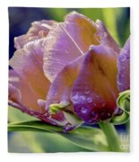 Golden Sunset Tulip Fleece Blanket