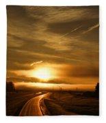 Golden Sunsets Fleece Blanket