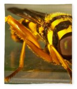 Golden Syrphid Fleece Blanket