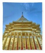 Golden Temple Fleece Blanket