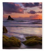 Golden Tides Fleece Blanket