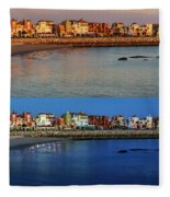 Golden To Blue Hour Puerto Sherry Cadiz Spain Fleece Blanket