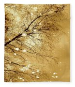Golden Tones Fleece Blanket