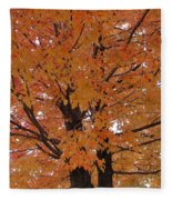 Golden Tree Fleece Blanket