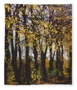 Golden Trees 1 Fleece Blanket