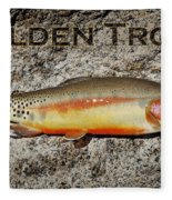 Golden Trout Fleece Blanket