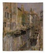Golden Venice Fleece Blanket