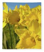 Golden Yellow Daffodil Flower Garden Art Prints Baslee Troutman Fleece Blanket