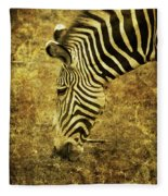 Golden Zebra  Fleece Blanket