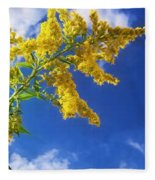 Goldenrod In The Sky Fleece Blanket