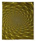 Goldenrod Vortex Fleece Blanket
