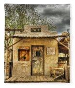 Goldfield Ghost Town - Jail  Fleece Blanket