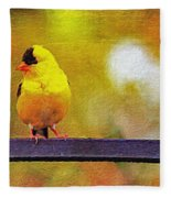 Goldfinch Sitting Pretty Fleece Blanket